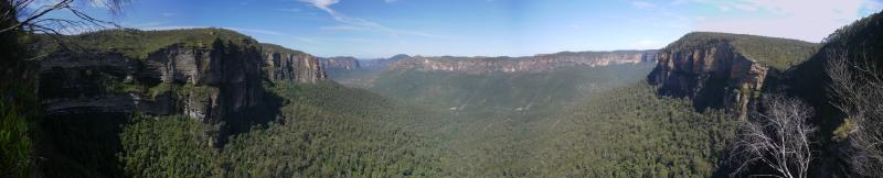 Blue Mountains panorama, near Sydney