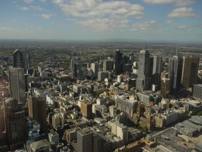 Melbourne downtown panorama