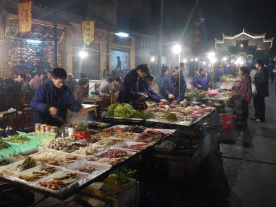 Food stalls in Fenghuang