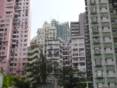 Residential towers in Hong Kong