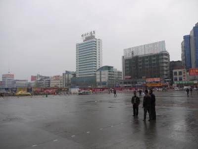 At the Huaihua train station
