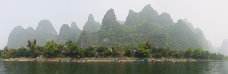 Sugarcone karst mountains at the Li River near Yangshuo