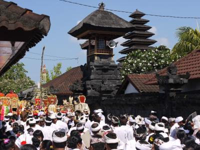 Temple procession in Bali