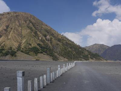 Inside the large Bromo crater