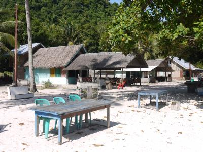 Restaurant huts on Pulau Weh