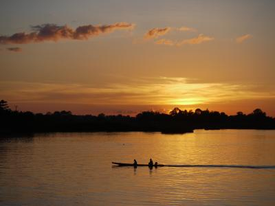 Sunset over the Mekong at Don Det