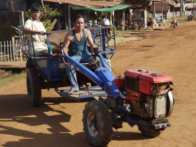 Typical transport in Laos