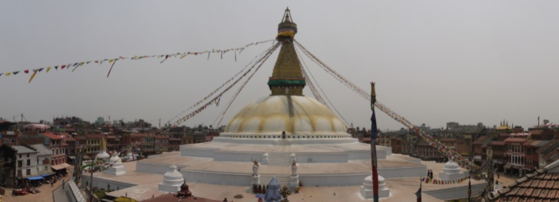Tibetan temple in Kathmandu's Boudha district