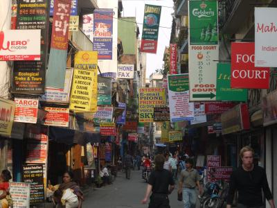 Thamel district of Kathmandu