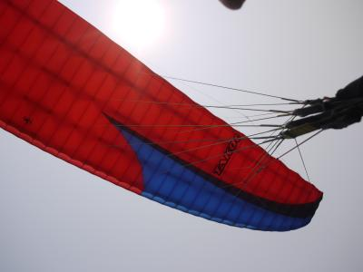 Paragliding from the top of Sarangkot mountain