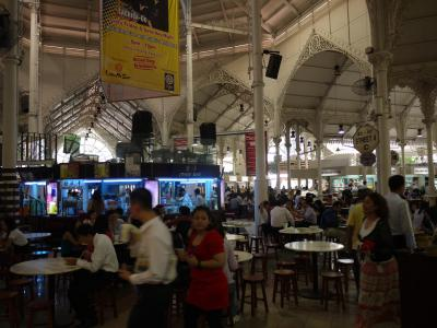 Victorian food hall in Singapore