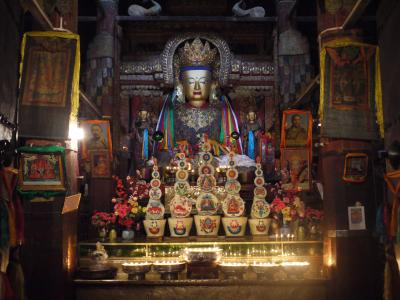 Buddha shrine in the Gyantse monastery in Tibet