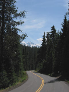 Downhill from Cascade mountains towards Eugene, Oregon