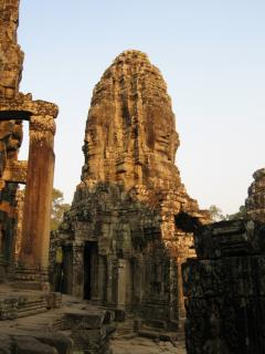 Face sculptures at the Bayon