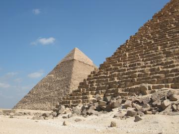 Cheops and Chefren pyramids, Giza