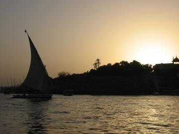 Elephantine Island seen from the Nile