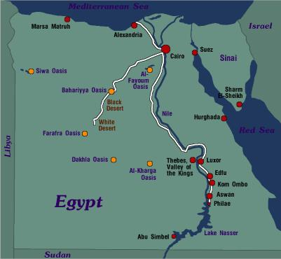 Backpacking In Egypt - Map of egypt pyramids