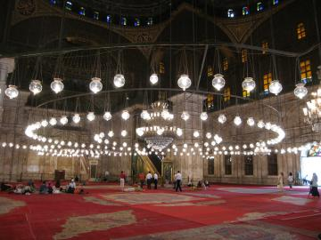 Interior of the Muhammed Ali mosque in the Citadel in Cairo