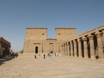 Philae temple on an island north of Aswan
