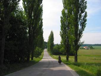 Road to Humpolec