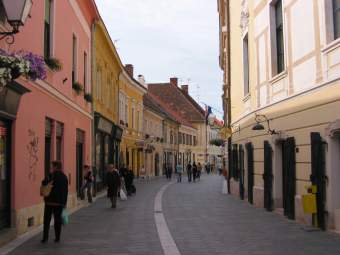 Downtown street in Varazdin