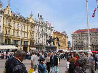 city square in Zagreb
