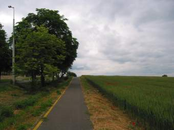 Bike path along the Balaton, Hungary