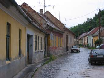 City street in Esztragom, Hungary
