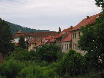 Backside of the main street of Brezice