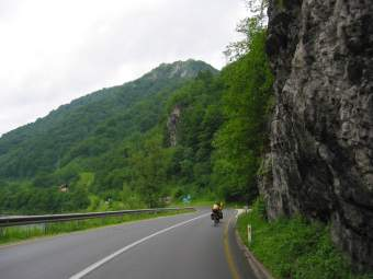 Slovenia: road to Brezice, mountains