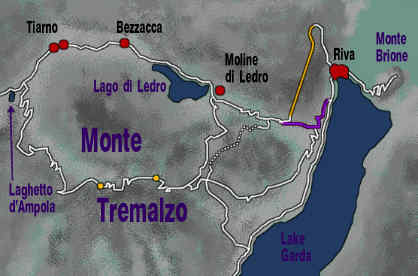 detail map of Lake Garda