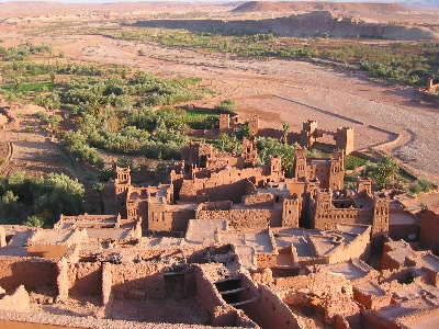 Ait Ben Haddou from the top of the hill