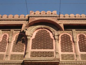 Latticework windows at Bikaner Fort