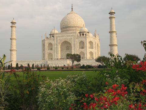 Taj Mahal near Agra, India