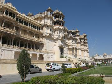 Udaipur palace facade