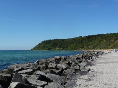 Beach in Kloster village on Hiddensee island