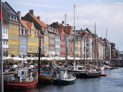 Old Nyhavn harbor of Copenhagen