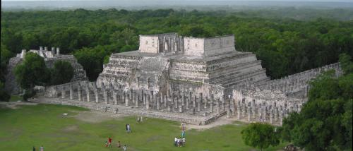 Chichen Itza from the top of the pyramid