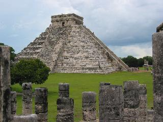 Main pyramid at Chichen Itza, Mexico