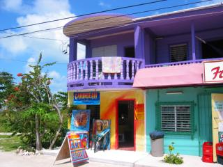 Colorful houses on Caye Caulker, Belize