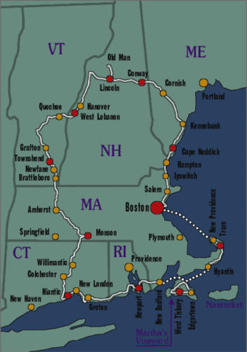 Bicycle Tour: New England loop