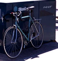 Indigo bike rack