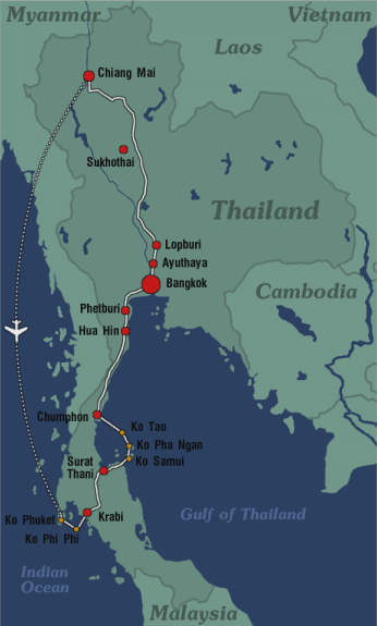 Lopburi Thailand Map.Backpacking In Thailand North