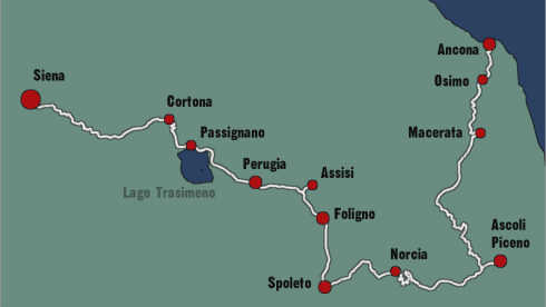 Bicycle Tour Marche Umbria Toscana Tuscany