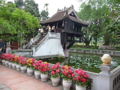 One-pillar pagoda in Hanoi