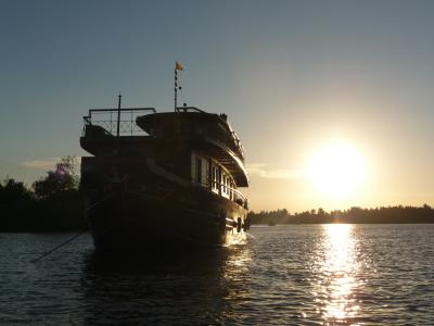Our boat on the Mekong
