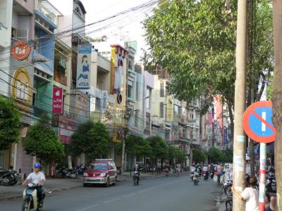 Street in the old parts of Saigon