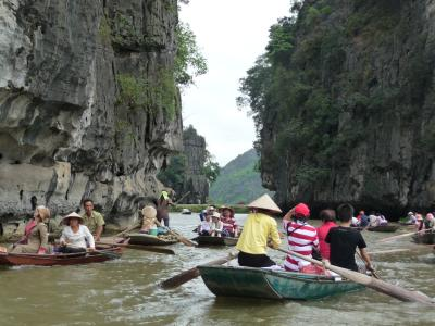 Rowboats in Tam Coc