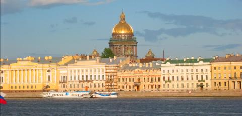 Admiralty and Isaac Cathedral from the Neva
