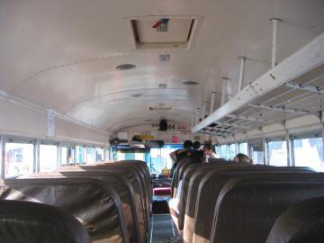 IPAK-prazan međugradskog autobusa u Belize